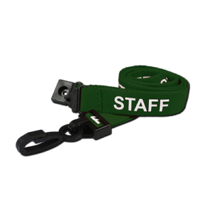 Pre-Printed Staff Lanyards Green
