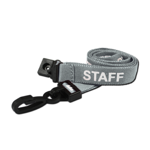 Pre-Printed Staff Lanyards Grey