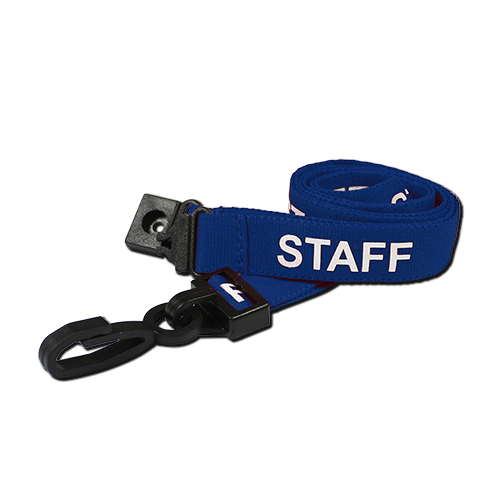 Pre-Printed Staff Lanyards Blue